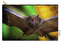 Carry-all Pouch featuring the photograph Pale Spear-nosed Bat In The Amazon Jungle by Al Bourassa