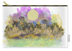 Carry-all Pouch featuring the digital art Pale Yellow Moon by Jessica Wright
