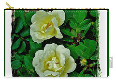 Pale Yellow Roses Carry-all Pouch by Marsha Heiken