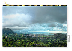 Carry-all Pouch featuring the photograph Pali Lookout Dawn by Dan McManus