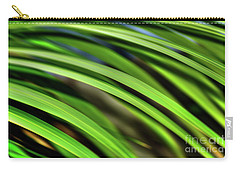 Carry-all Pouch featuring the photograph Palm Abstract By Kaye Menner by Kaye Menner