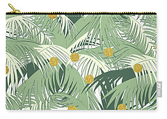 Palm And Gold Carry-all Pouch