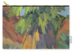 Carry-all Pouch featuring the painting Palm At Santa Rosa Mountains Visitors Center by Diane McClary