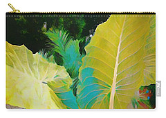 Carry-all Pouch featuring the painting Palm Branches by Mindy Newman