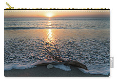 Palm Frond Coral Sunrise Wave Delray Beach Florida Carry-all Pouch