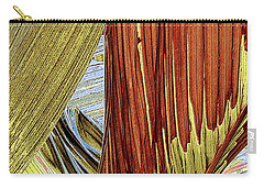 Carry-all Pouch featuring the photograph Palm Leaf Abstract by Ben and Raisa Gertsberg