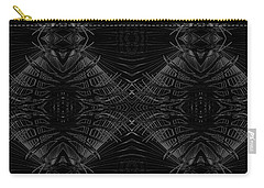 Carry-all Pouch featuring the digital art Palm Leaf Design by Ellen Barron O'Reilly