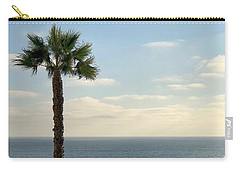 Carry-all Pouch featuring the photograph Palm Over The Sea by Brian Eberly