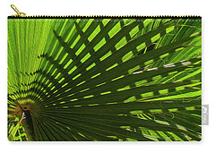 Carry-all Pouch featuring the photograph Palm Pattern No.1 by Mark Myhaver