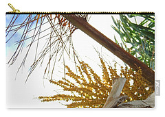 Carry-all Pouch featuring the photograph Palm Sky View by Linda Hollis
