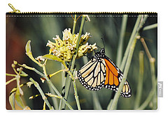 Carry-all Pouch featuring the photograph Palm Springs Monarch by Kyle Hanson