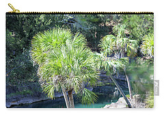 Palm Tree Blue Pond Carry-all Pouch