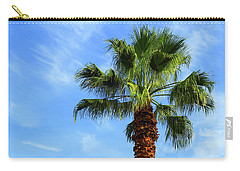 Palm Tree, Blue Sky, Wispy Clouds Carry-all Pouch