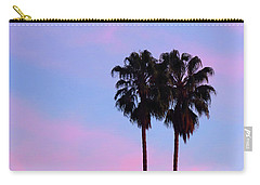 Palm Trees Silhouette At Sunset Carry-all Pouch