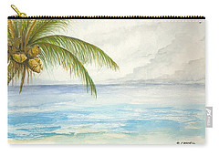 Carry-all Pouch featuring the digital art Palm Tree Study by Darren Cannell