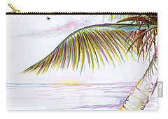 Carry-all Pouch featuring the digital art Palm Tree Study Three by Darren Cannell