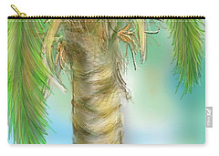 Carry-all Pouch featuring the digital art Palm Tree Study Two by Darren Cannell