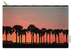 Carry-all Pouch featuring the photograph Palm Tree Sunset by Joel Witmeyer