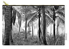 Palm Trees - Black And White Carry-all Pouch