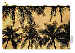 Palm Trees In Sunset Carry-all Pouch