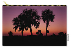 Carry-all Pouch featuring the photograph Palm Trees Silhouette by Joel Witmeyer