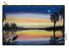 Palmetto Tree And Moon Low Country Sunset Carry-all Pouch