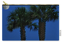 Carry-all Pouch featuring the photograph Palms And Moon At Morse Park by Bill Barber