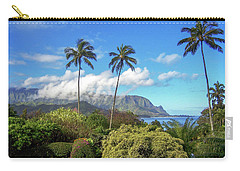 Palms At Hanalei Carry-all Pouch by James Eddy