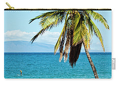 Palms On Hawaiian Beach 12 Carry-all Pouch by Micah May