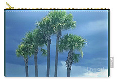Palmy Skies Carry-all Pouch by Rachel Hannah