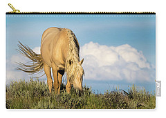 Palomino Wild Stallion In The Evening Light Carry-all Pouch
