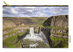 Carry-all Pouch featuring the photograph Palouse Falls by Albert Seger