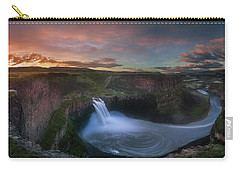 Carry-all Pouch featuring the photograph Palouse Falls Sunrise by William Lee