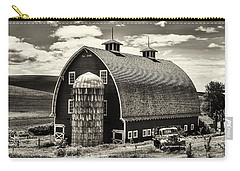 Palouse Icon In Sepia Carry-all Pouch by Mark Kiver