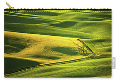 Carry-all Pouch featuring the photograph Palouse Shades Of Green by Dan Mihai
