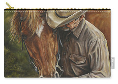 Carry-all Pouch featuring the painting Pals by Kim Lockman