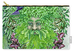 Carry-all Pouch featuring the digital art Pan The Protector by Angela Hobbs