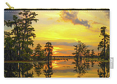 Panorama The Yellow Sunset Of Louisiana  Carry-all Pouch