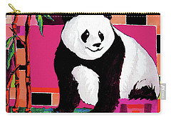 Panda Abstrack Color Vision  Carry-all Pouch by Alban Dizdari