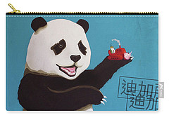 Panda Joy Blue Carry-all Pouch
