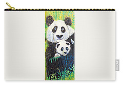 Panda Mother And Cub Carry-all Pouch