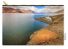Carry-all Pouch featuring the photograph Pangong Tso Lake by Alexey Stiop