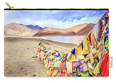 Carry-all Pouch featuring the photograph Pangong Tso Lkae by Alexey Stiop