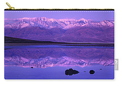 Panorama Badwater And The Panamint Range At Sunrise Death Valley Carry-all Pouch