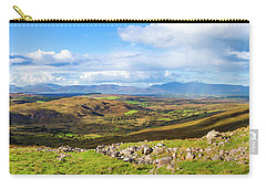 Carry-all Pouch featuring the photograph Panorama Of A Colourful Undulating Irish Landscape In Kerry by Semmick Photo