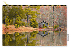 Panorama Of Cabin By The Lake Carry-all Pouch by Shelby  Young