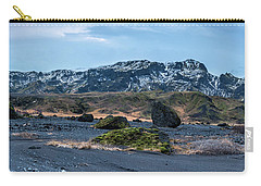 Panorama View Of An Icelandic Mountain Range Carry-all Pouch by Joe Belanger