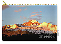 Panorama View Of Longs Peak At Sunrise Carry-all Pouch by Ronda Kimbrow