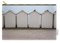 Panoramic Beach Huts Carry-all Pouch by Helen Northcott