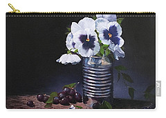Pansies In A Can Carry-all Pouch